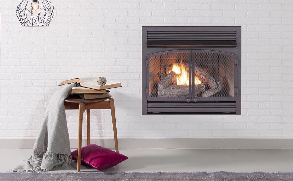 room, fireplace, insert, ventless, dual fuel, procom