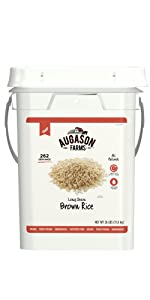 Augason Farms Emergency Survival Bulk Food Brown Rice