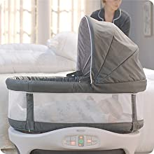 Bassinet Responds to Baby's Cries