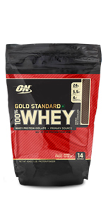 Whey Gold Standard, Optimum Nutrition, ON Protein, Protein Powder, Whey Protein, Protein Drink, 1 lb