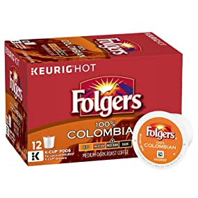 folgers k-cups, k-cup pods, colombian coffee, colombian k-cup