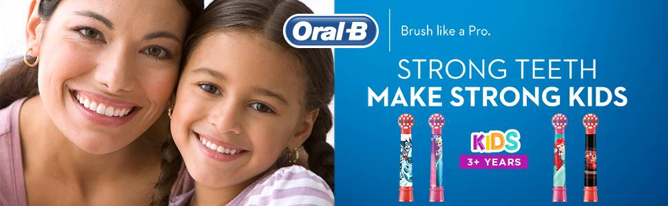 ORAL-B BRUSH LIKE A PRO STRONG TEETH MAKE STRONG KIDS Kids 3+ years