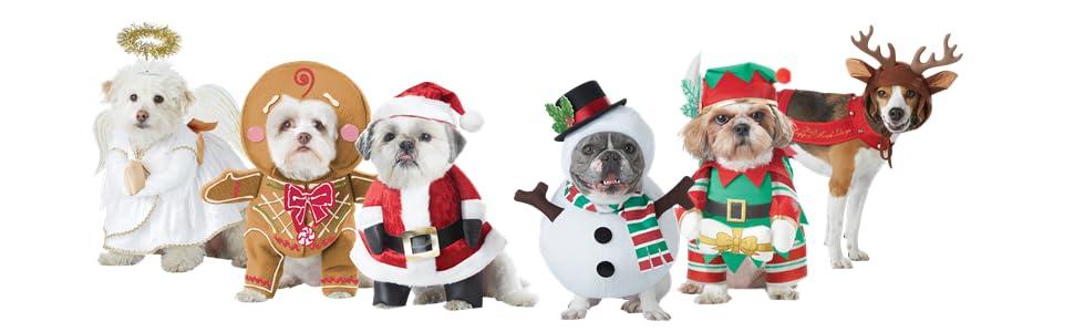 Santa Dog, Angel Dog, Snowman Dog, Elf Dog, Reindeer Dog, Christmas Dog Costume, Pet Costume