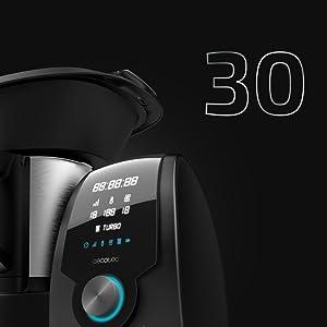 Cecotec Robot de Cocina Multifunción Mambo 8090. Capacidad 3,3L, Cuchara MamboMix, 30 funciones, Báscula Incorporada, Jarra de Acero Inoxidable Apta para Lavavajillas, Cestillo de Hervir, Recetario.: Amazon.es: Hogar