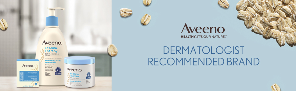 Aveeno Eczema Therapy Cream, Balm and Bath Treatment from a dermatologist recommended brand