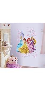 disney princess peel and stick wall decals, peel and stick wall decals
