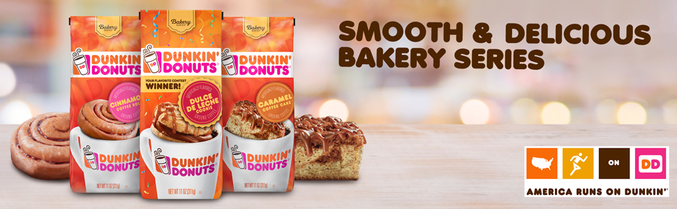 Amazon Com Dunkin Donuts Bakery Series Ground Coffee Caramel