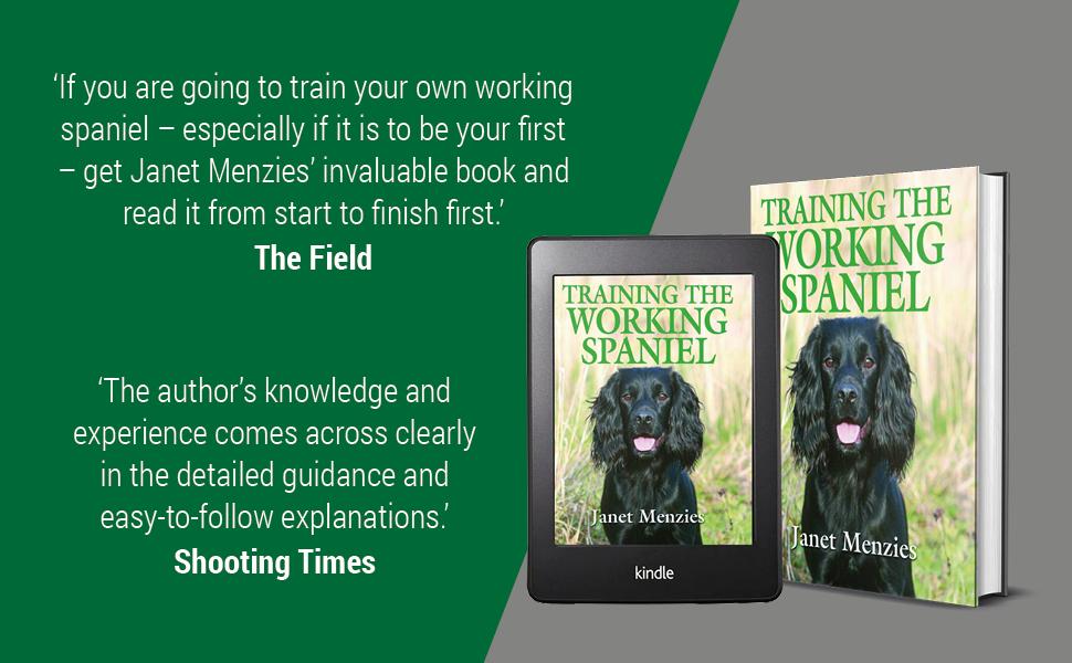 gundog training, janet menzies, spaniel, dog training