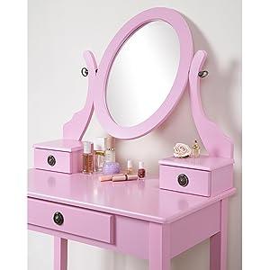 Amazon Com Roundhill Furniture Moniya White Wood Vanity