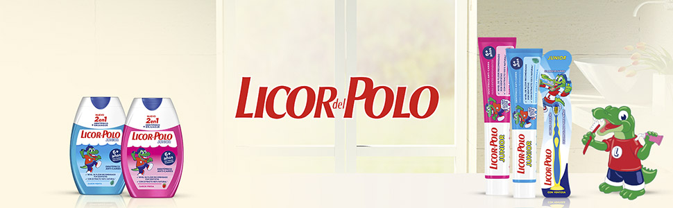 Licor del Polo - Pasta de dientes 2 en 1 - Junior +6 años Sabor ...