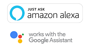Works with Alexa and Google Home