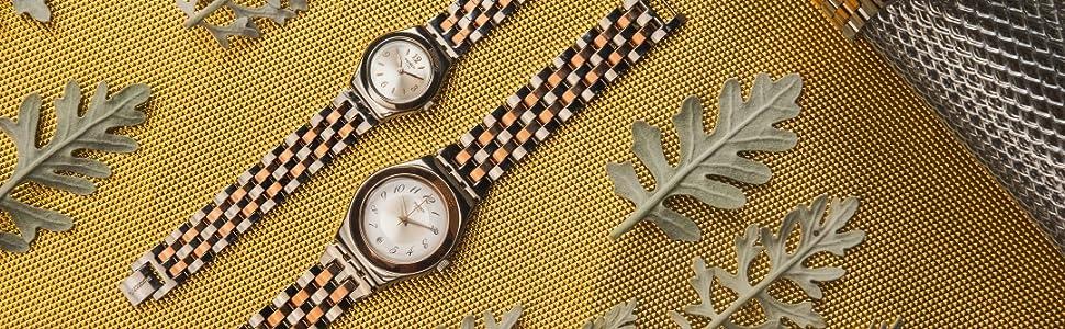 Irony, lady, medium, swatch, watch, metal