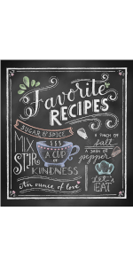 favorite recipe binder blank