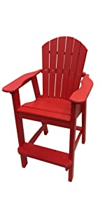 Phat Tommy Recycled Poly Folding Adirondack Chair, Phat Tommy Deluxe  Recycled Poly Folding Adirondack Chair, Phat Tommy Recycled Poly Balcony  Chair ...