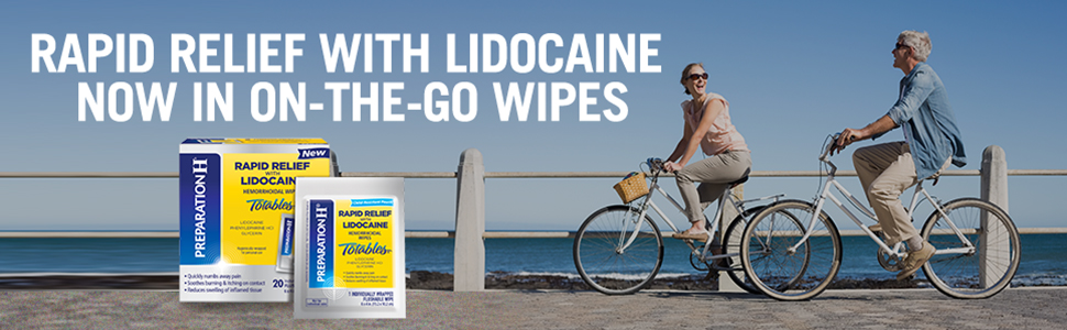 Rapid Relief with Lidocaine Now In On-The-Go Wipes