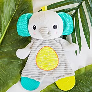 elephant plush soother teether toy