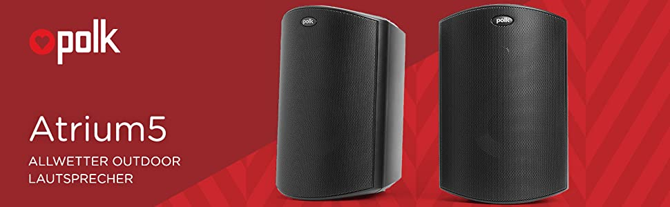 Polk Audio Atrium 5 Sats Außen Lautsprecher 100 W Weiß Audio Hifi