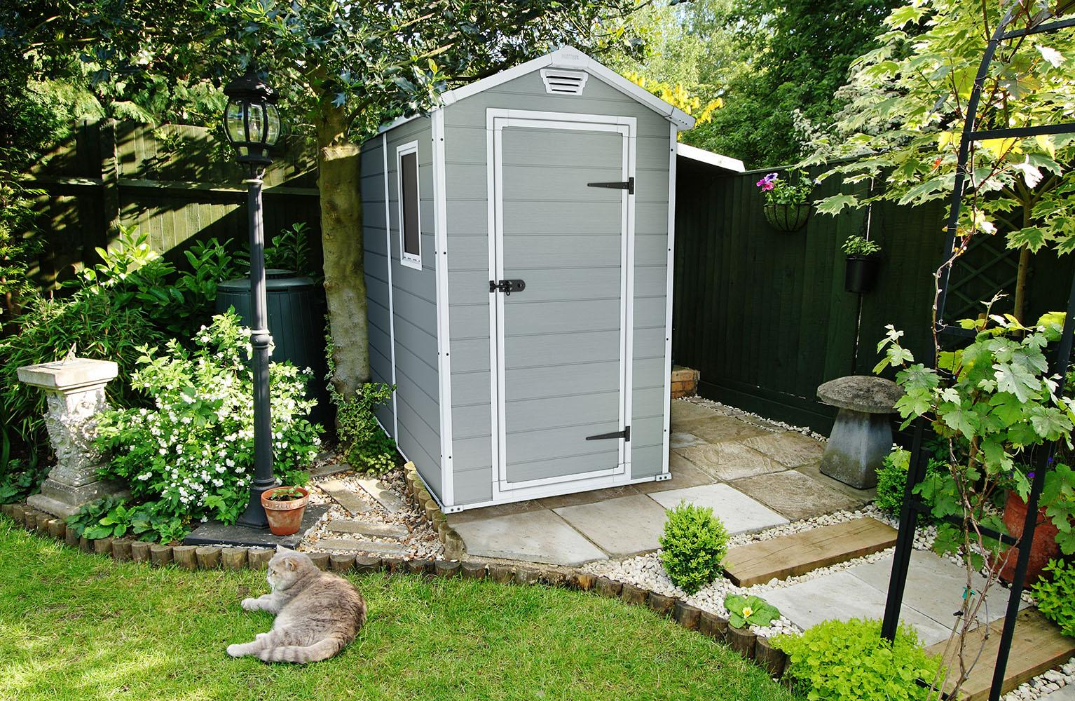 Amazon.com : KETER Manor 4x6 Resin Outdoor Storage Shed ...