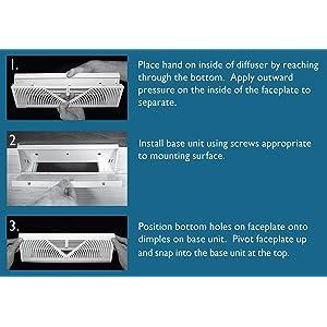 La ventilation ccr10045b courbe 45//°F//F en ABS pour a/ération canalis/ée diam/ètre 100/mm