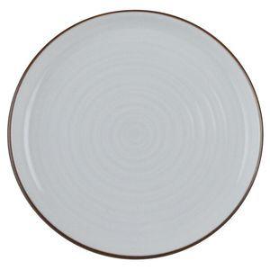 白山陶器 平皿 ホワイト 白磁千段