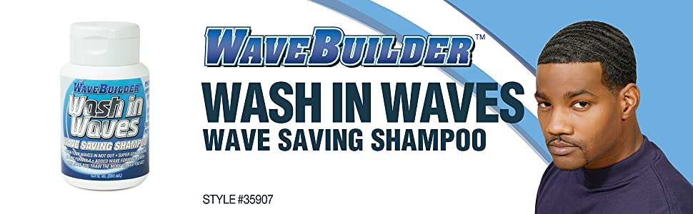 WaveBuilder Wash In Waves Shampoo | Super Gentle Hair Wave Saving Formula, 6.9 fl oz