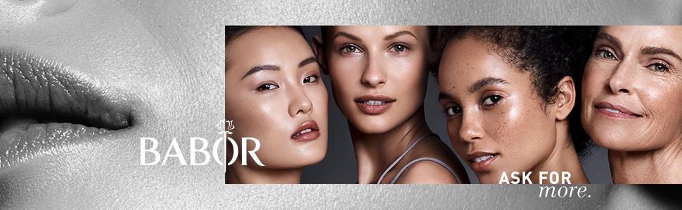 babor ask for more kosmetik creme reinigung ampullen haut hauttyp anti aging falten feuchtigkeit