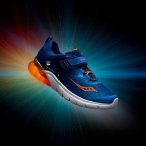 Saucony Kids' Flash Glow a/C Sneaker