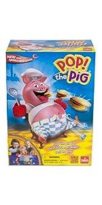 Pop the Pig, kids, game, belly, burger