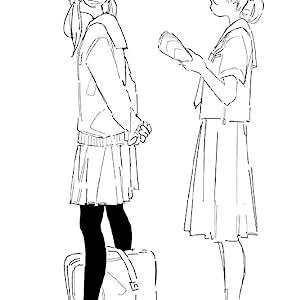女子中高生 制服 イラスト クマノイ