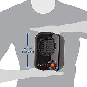 lasko myheat space heater size