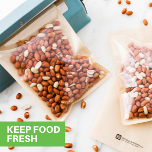 These plastic cookie bags are heat-sealable for keeping snacks fresh and tasty.