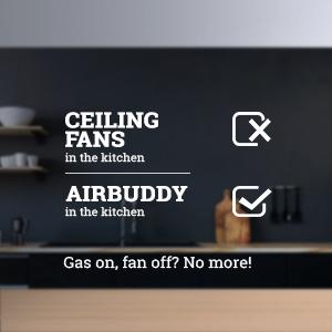 Air Buddy Kitchen Fan, Ceiling Fan, Kitchen Fan