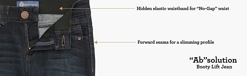Democracy, jeans, womens jeans, jegging, straight, boot, skinny, ab solution