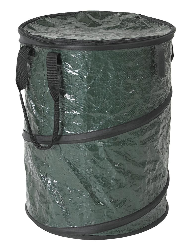 Stansport collapsible campsite carry all trash can green sports outdoors - Collapsible garbage cans ...