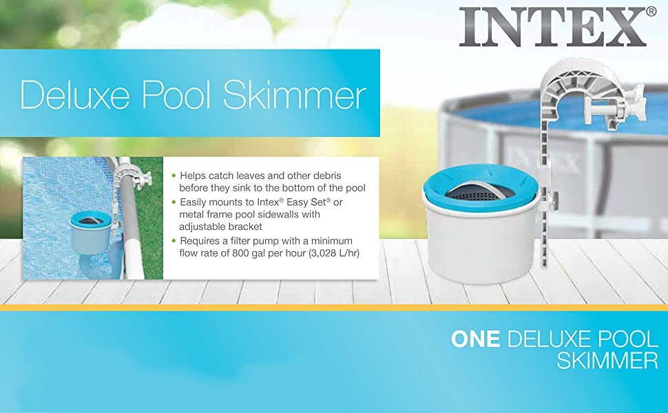 2800E Intex Deluxe Pool Skimmer | Deluxe Wall Mount Surface Skimmer