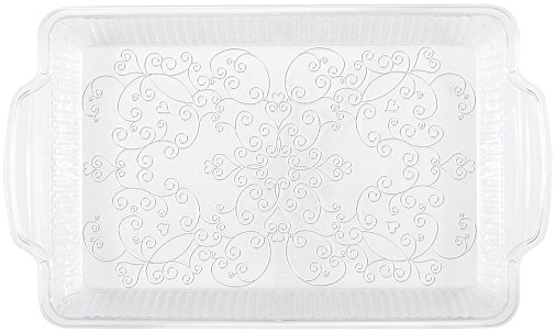 Clear Etched Plastic Serving Tray · Clear Fluted Plastic Dinner Plates 10ct · Clear Fluted Plastic Dessert Plates 10ct · Etched Clear Plastic Dinner ...  sc 1 st  Amazon.com & Amazon.com: Clear Fluted Plastic Dessert Plates 10ct: Toys u0026 Games