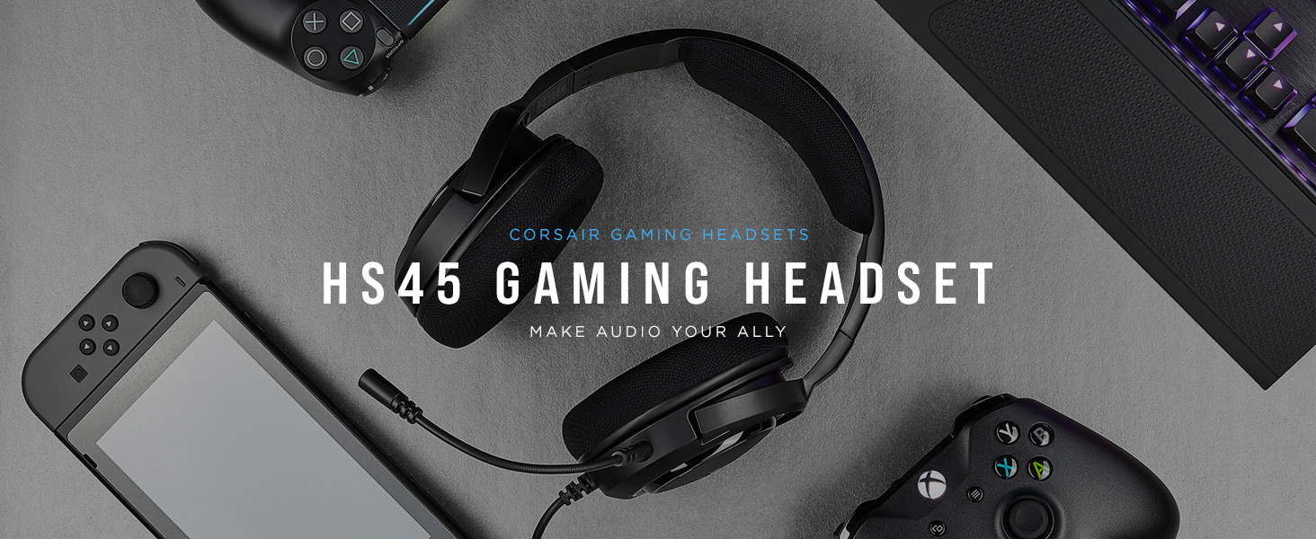 HS45 SURROUND Gaming Headset — Carbon