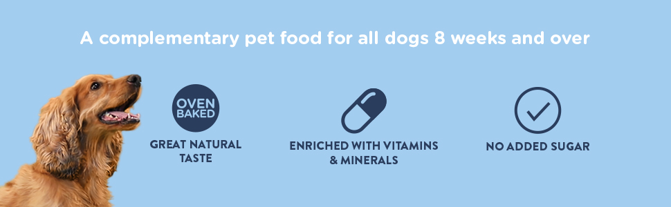 a complementary pet food for all dogs 8 weeks and over
