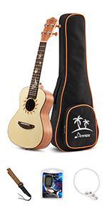Spruce concert ukulele