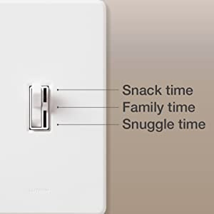 Lutron C.L Dimmers provide over 250 lighting levels, so you can set the right light for any activity