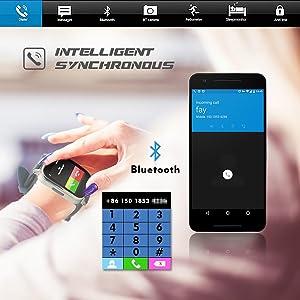 PRIXTON Smartwatch SWA20 - Reloj Inteligente Compatible con Android con Aviso de Notificaciones, Llamadas, Mails.