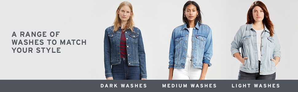 Levis Denim Trucker Jacket Colors & Washes