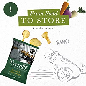 Tyrell's Crisps Journey From Field to Store in under an hour