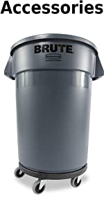 Rubbermaid Commercial Products BRUTE Trash Can Garbage Container Recycling Bin Durable Plastic