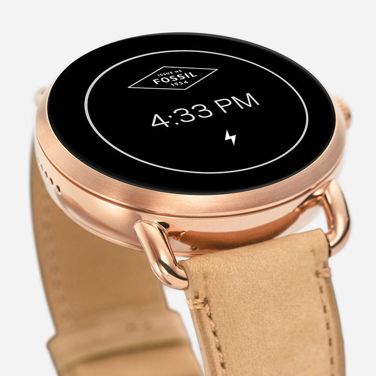 Fossil Q Wander Gen 2 Rose Gold-Tone Stainless Steel ...