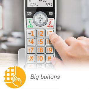 big buttons and backlit keypad