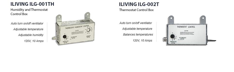 Humidity, Thermostat, Humidistat, Adjustable, Adjustable Temperature, Shutter fan, Accessories