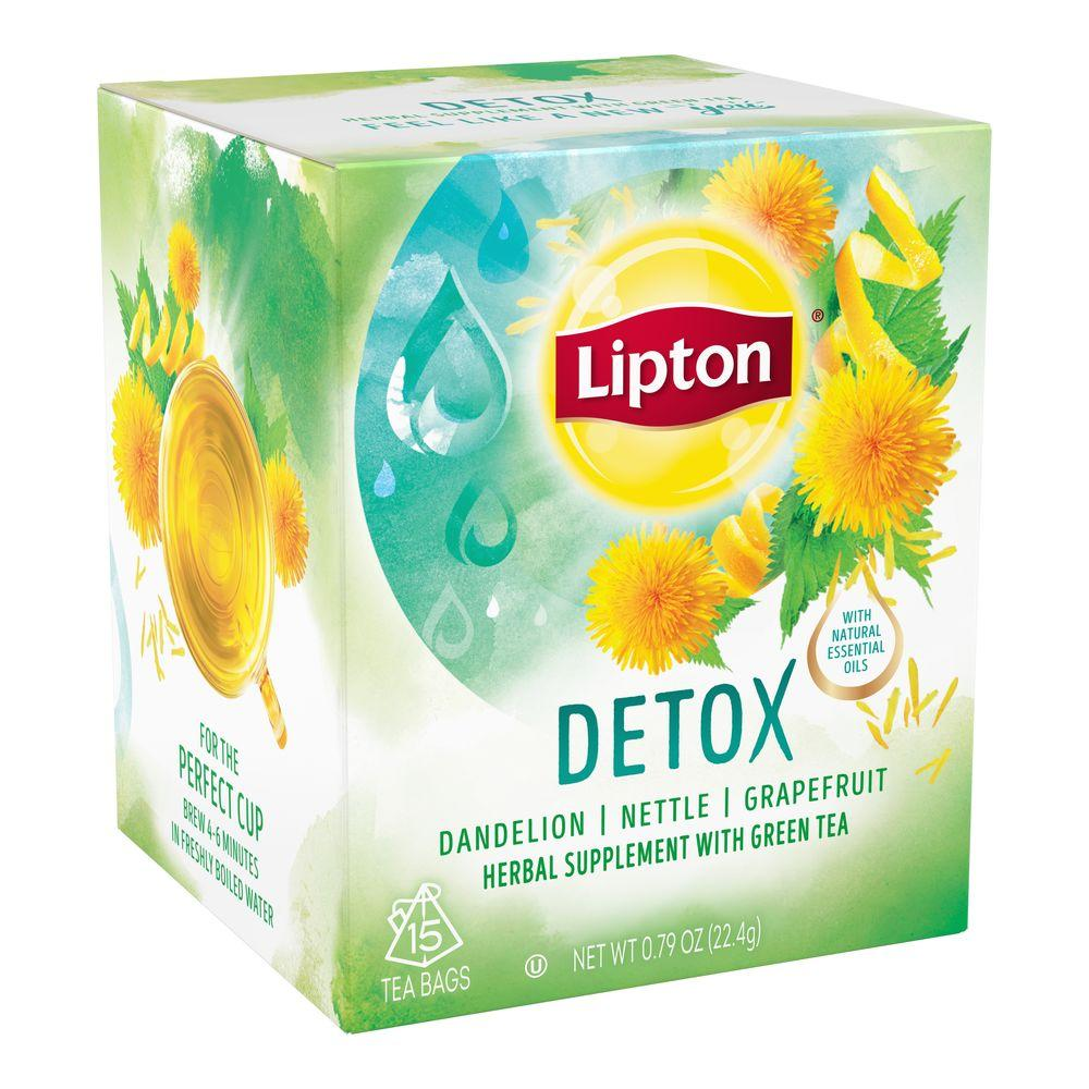 lipton herbal supplement with green tea detox 15 ct grocery gourmet food. Black Bedroom Furniture Sets. Home Design Ideas