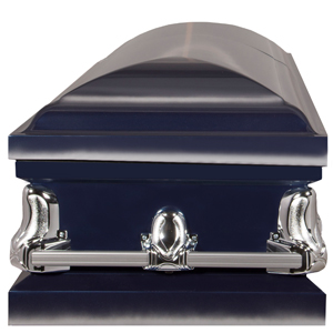 funeral casket with reinforced stationary handles