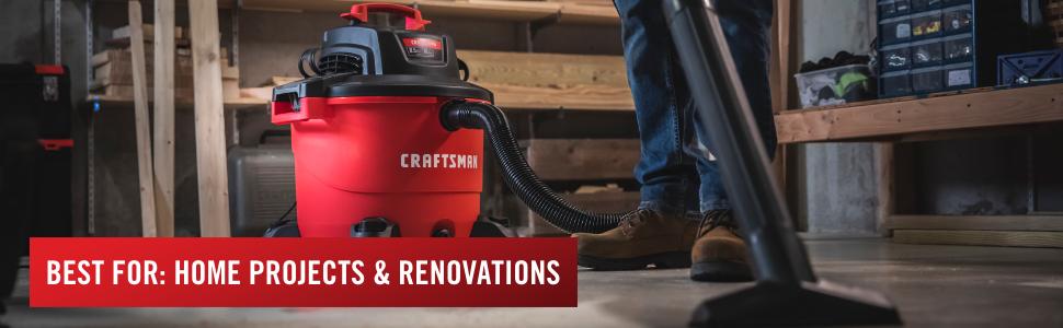 craftsman, wet/dry, wet dry vac, vacuum cleaner, shop vac, shop vacuum, 16 gallon, wet dry vacuum